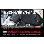 Private Mass Basic Firearms Safety Class Gift Certificate ($240)